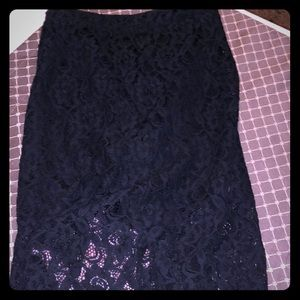 Forever 21 lace over lay pencil skirt